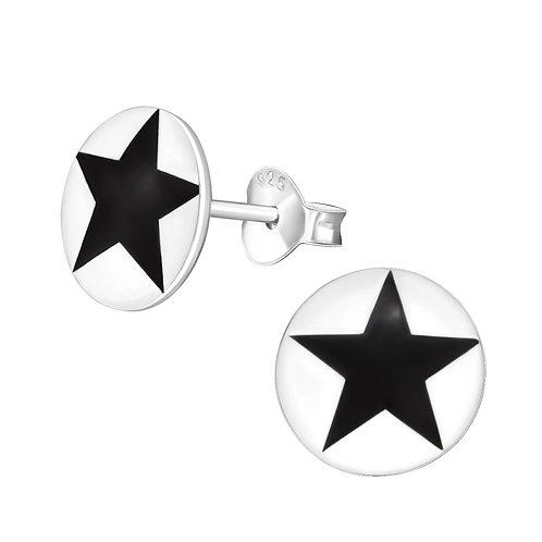 Star Sterling Silver ear studs