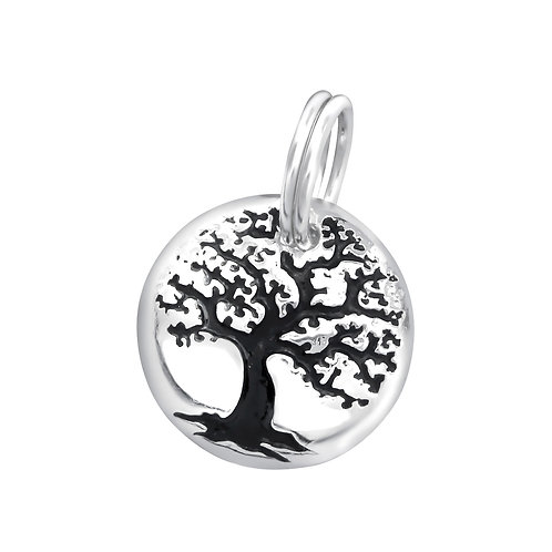 Tree of Life Sterling Silver Split Ring Charm