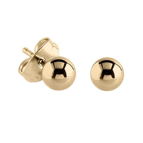 Zircon Steel Ball  Ear Studs