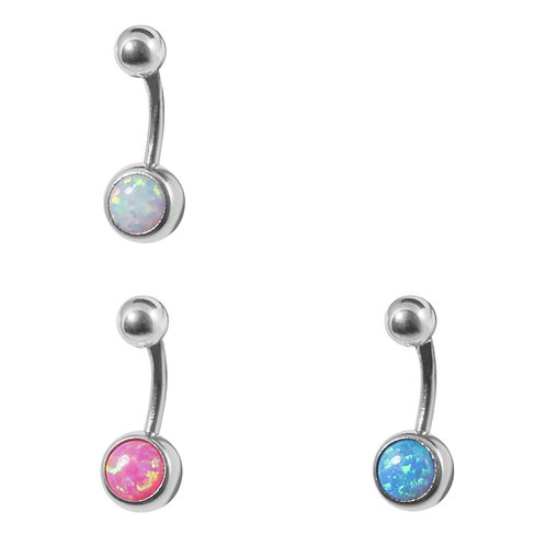 Synthetic Opal Belly Bars