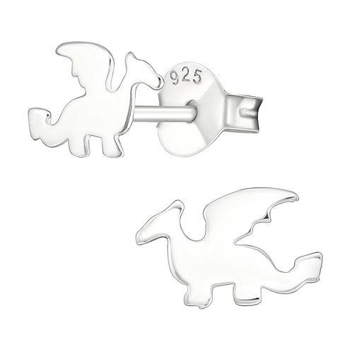 Dragon Sterling Silver Ear Studs