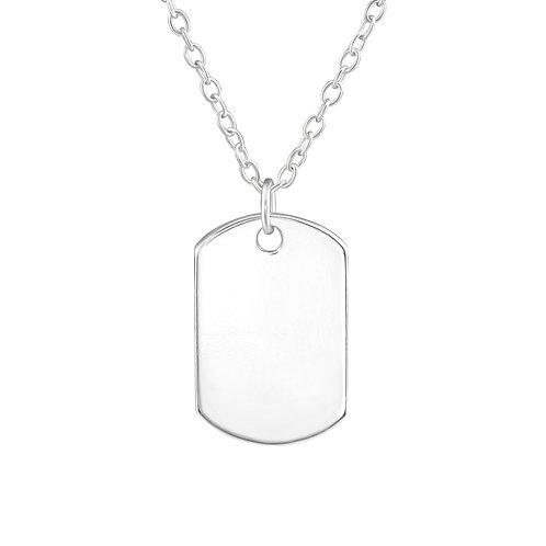 Plain Tag Necklace
