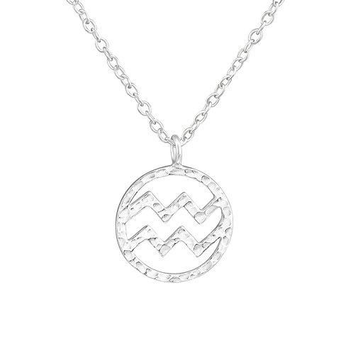 Sterling Silver Aquarius Necklace