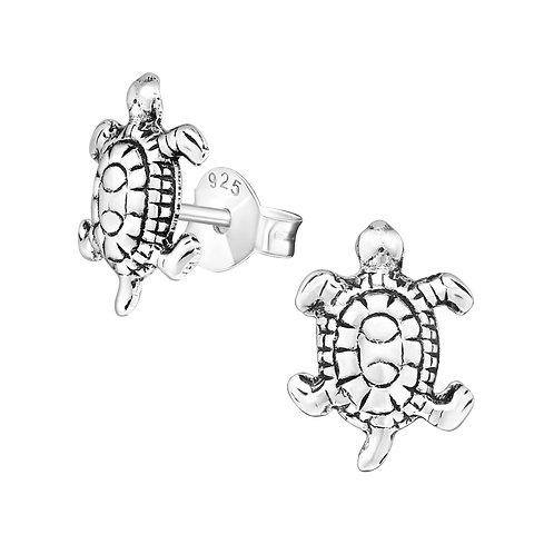 Turtle Silver Ear Studs