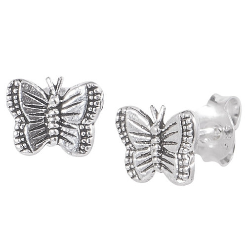 Sterling Silver Butterfly  Ear Studs