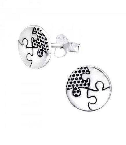 Puzzle 925 Sterling Sliver Ear Stud