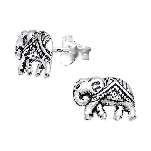 Elephant Sterling Silver Ear Studs