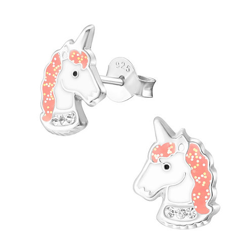 Sparky Unicorn Sterling Silver Ear Studs