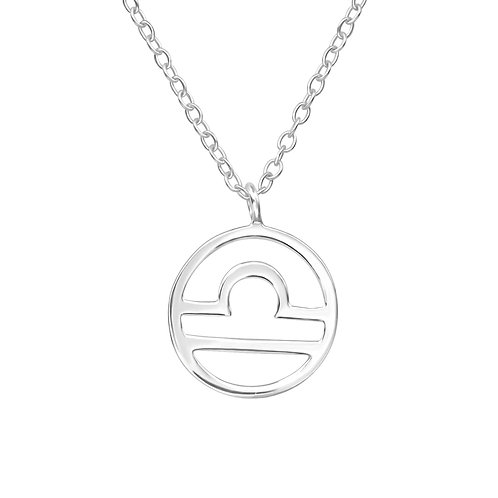 Sterling Silver Libra Necklace