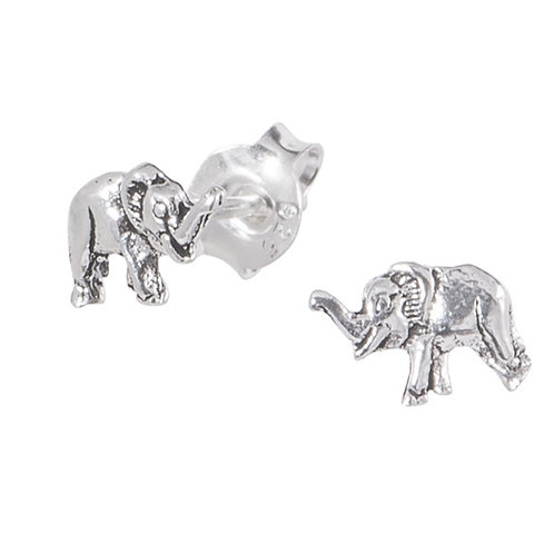 Sterling Silver Elephant Ear Studs