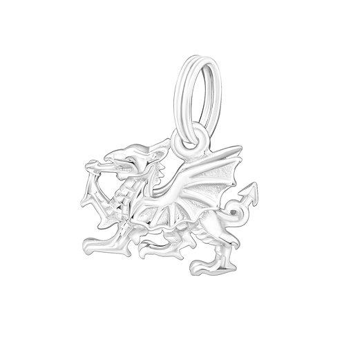 Dragon Sterling Silver Split Ring Charm