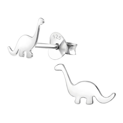 Sterling Silver Dinosaur Ear Studs