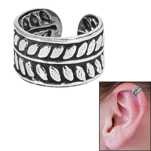 925 Sterling Silver Clip on Ear Cuff