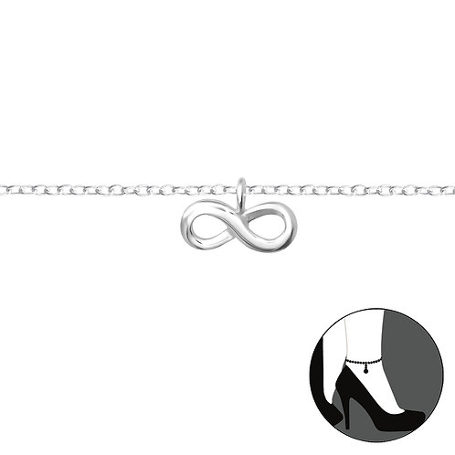 Sterling Silver Anklet with Infinity Charm