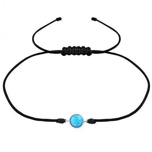 Azure Corded  Bracelet