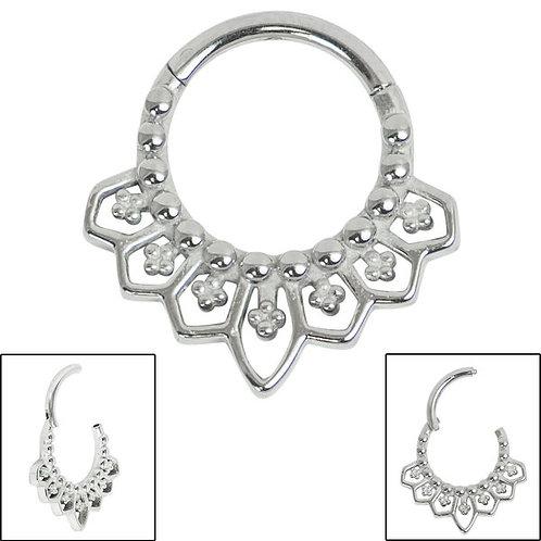 Surgical Steel Mandala Clicker Ring