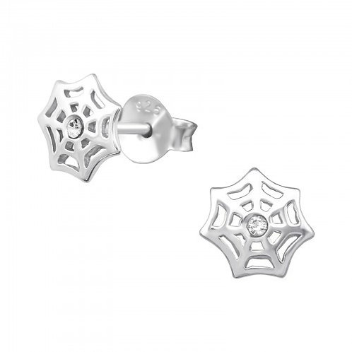 Crystal Spider web Ear Studs