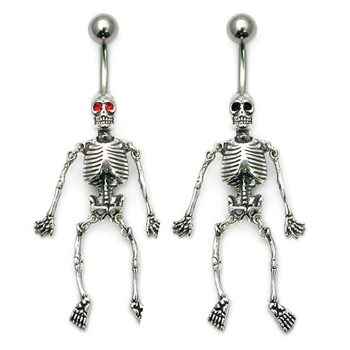 Moving Skeleton Belly Bar