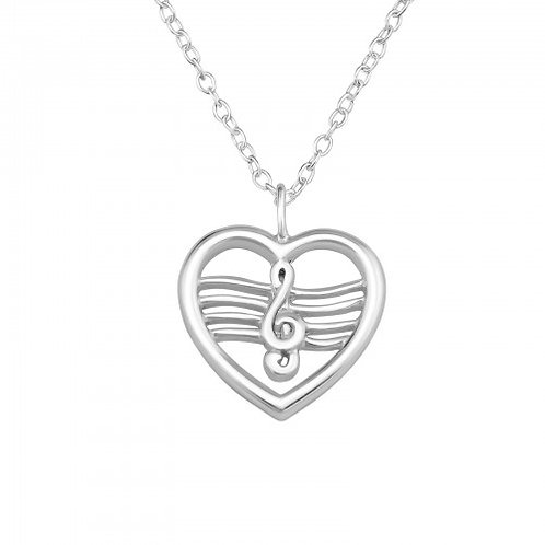 Heart music Necklace