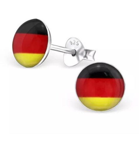 Rounded German Flag Ear Stud