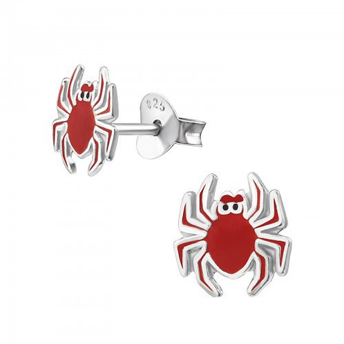 Red Spider Ear Studs