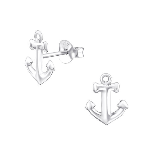 Anchor Sterling Silver Ear Studs