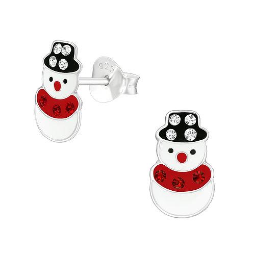 Colourful Crystal Snowman Ear Studs
