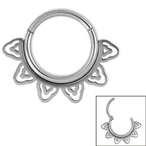 Sunburst Hinged Clicker Ring