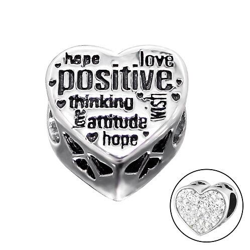 Positive Words Jewelled Beaded Charm