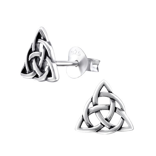 Celtic Knot Sterling Silver Ear Studs