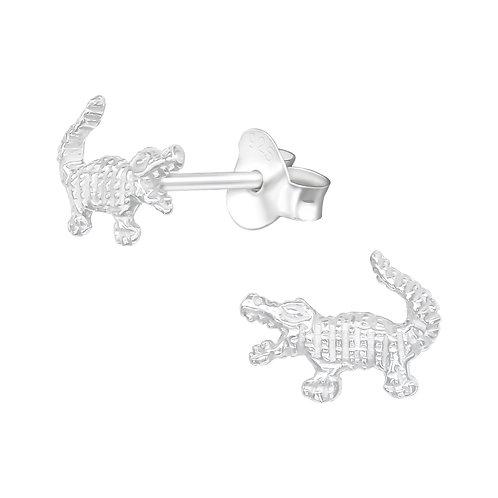Crocodile Sterling Silver Ear Studs