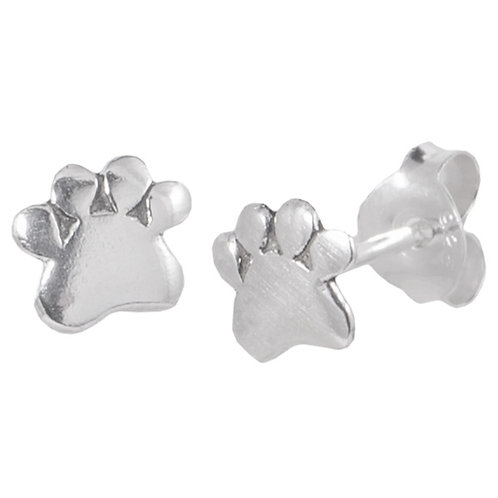 Sterling Silver Paw Print ear Studs