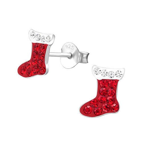 Crystal Christmas Stockings Ears Studs