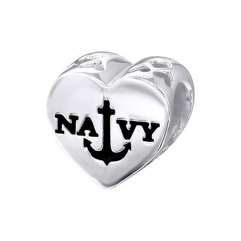 US Navy Beaded Charm