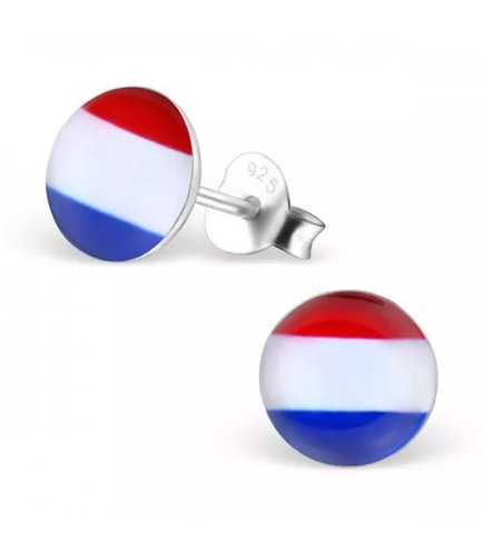 Rounded Dutch Flag Ear Stud