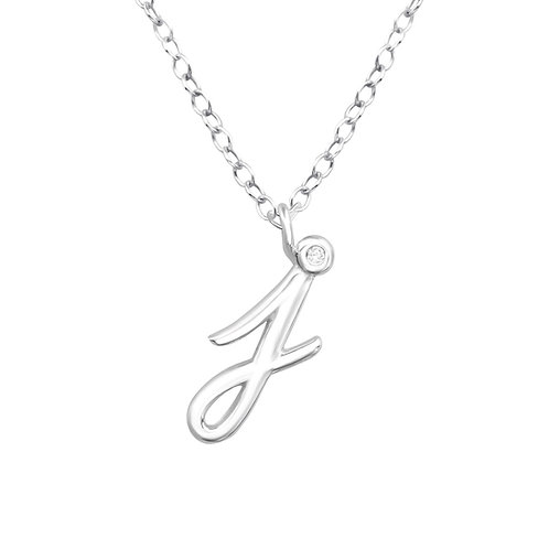 """Sterling Silver Necklace with """"j"""" Pendent"""