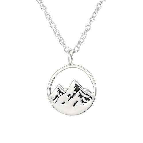 Mountain View Sterling Silver  Necklace