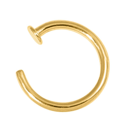 Gold Plated Surgical Steel Open Nose Ring