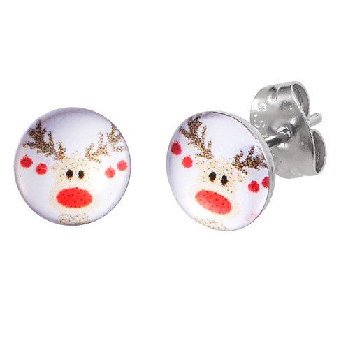 Reindeer Surgical Steel Ear Studs