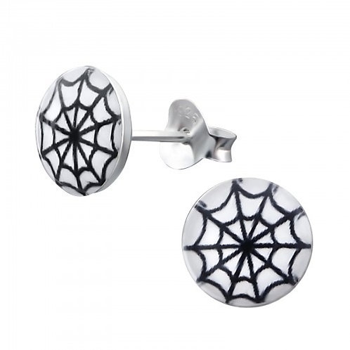 Spiderweb Sterling Sliver Ear Studs