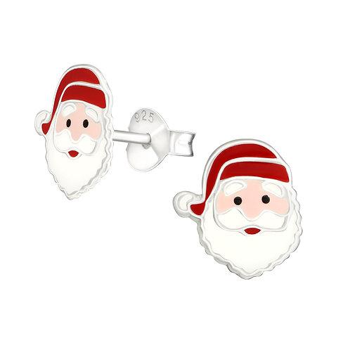 Sterling Silver  Santa  Ears Studs