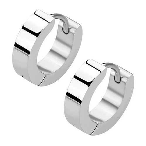 Pair of Surgical Steel Huggy Ear Ring 1mm x 9