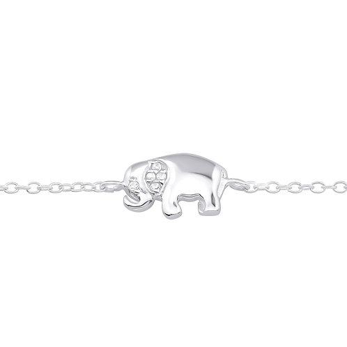 Crystal Elephant Chain Bracelet