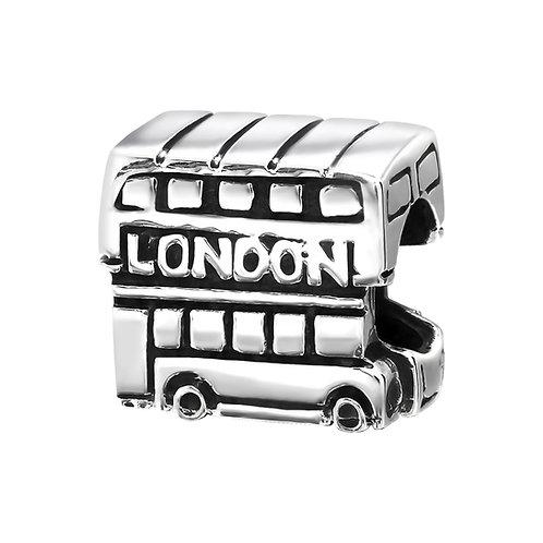 London Bus Beaded Charm
