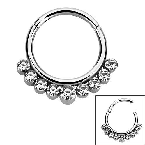 9 Gem Hinged Segment Ring