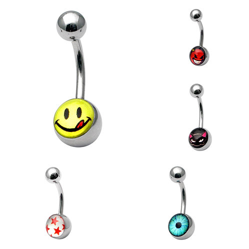 Surgical Steel Picture Belly Bars