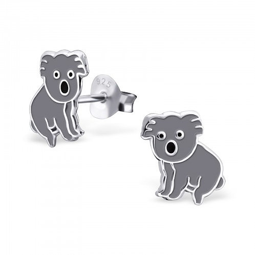 Koala Bear Sterling Sliver Ear Studs