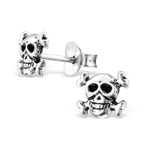 Skull 925 Sterling Sliver Ear Stud
