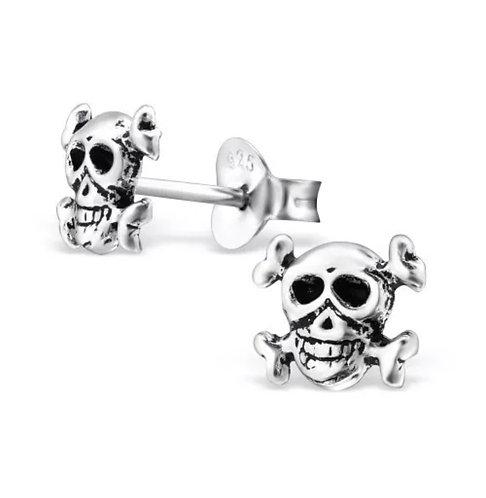 Skull 925 Sterling Sliver Ear Stud