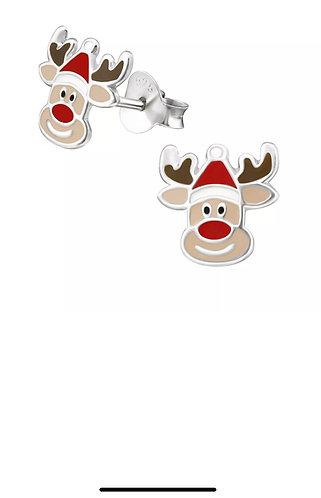 Reindeer  Sterling Silver Ear Studs